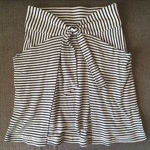 """Free People """"All Tied Up Skirt"""" - B&W Stripe"""